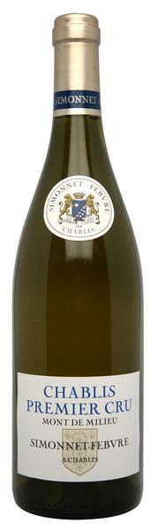 Simonnet-Febvre 1er Cru Mont de Milieu Chablis 西蒙‧法勃宓勒峰一級葡萄園夏布利白葡萄酒.jpg