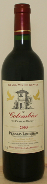 Le Colombier de Chateau Brown 布朗古堡紅葡萄酒.jpg