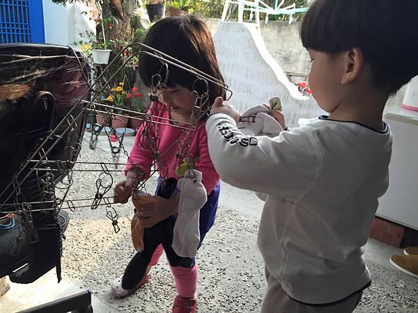 幼兒生活自理 3-5歲用曬衣夾