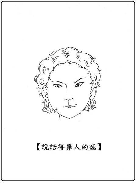 圖1 痣在臉頰嘴側常說話惹麻煩