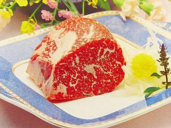 圖1 有大理石花紋的松阪牛肉