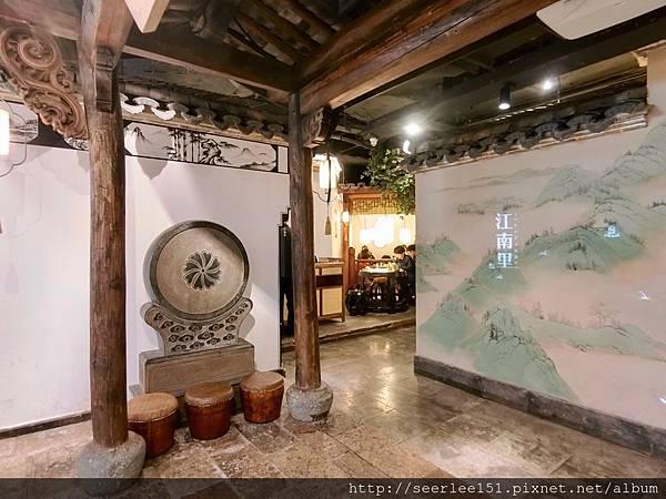 P3)整個餐廳的佈置確實很有江南里弄情調.JPG