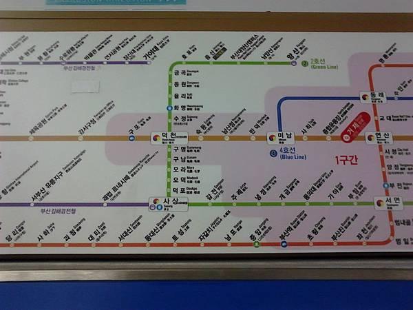 釜山地鐵路線圖
