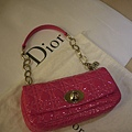 Dior 漆皮桃紅菱格紋包 原價6.5萬