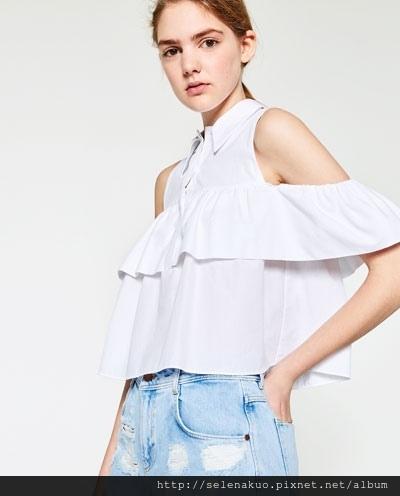 8733106a719e4 夏日穿搭~ 衣櫃內不可缺少的一字領 露肩歐美日系列  Zara