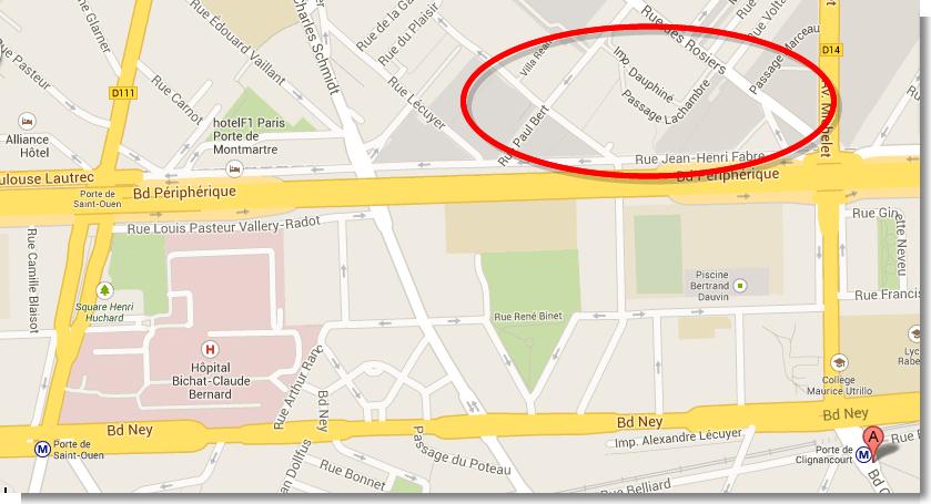 Porte de Clignancourt - Google 地圖 (1)