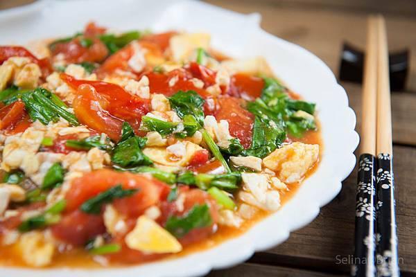 菠菜蕃茄炒蛋