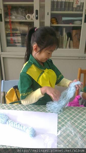 毛線辮子娃娃立體畫 DIY ( 延平 135 幼女團軍團 )