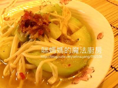 吻魚XO醬金針菇絲瓜-橫