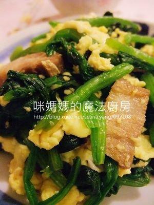 五花肉嫩蛋波菜