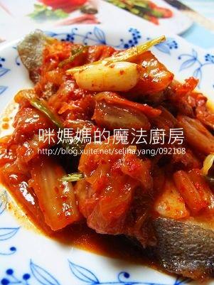 泡菜蒸鱈魚