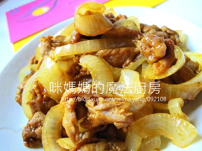 咖哩洋蔥豬肉片-橫
