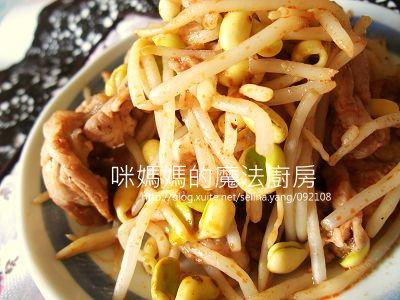 麻辣豆芽豬肉片-橫