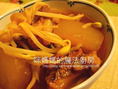 冬瓜豆芽燉排骨-橫