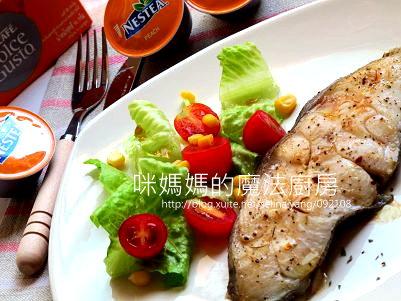 義式香料鱈魚排佐蜜桃醬汁-橫