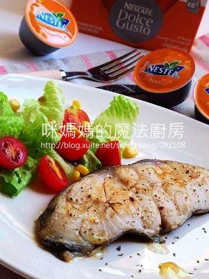 義式香料鱈魚排佐蜜桃醬汁
