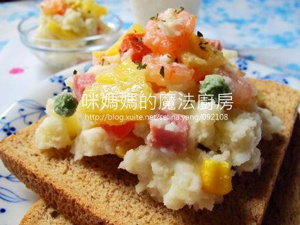 夏威夷薯泥沙拉三明治-橫