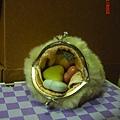 8.5cm 口金  基礎款~貝殼型口金包:毛絨口金包(完成打開圖).jpg