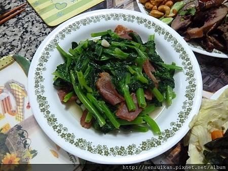 臘肉炒豆苗.JPG
