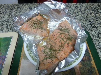 迷迭香鮭魚