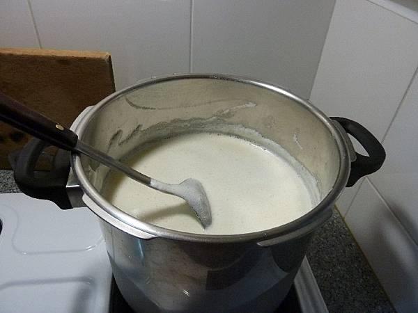 三公升的生豆漿