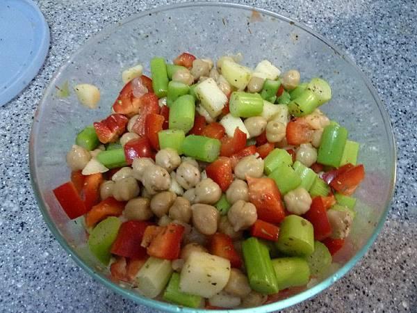 雞豆沙拉完成