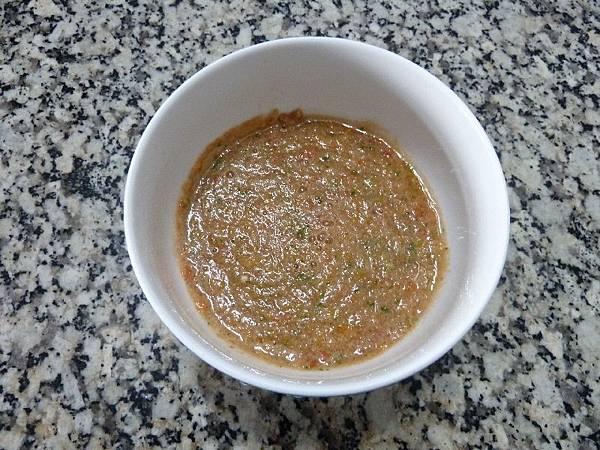 蕃茄冷湯完成