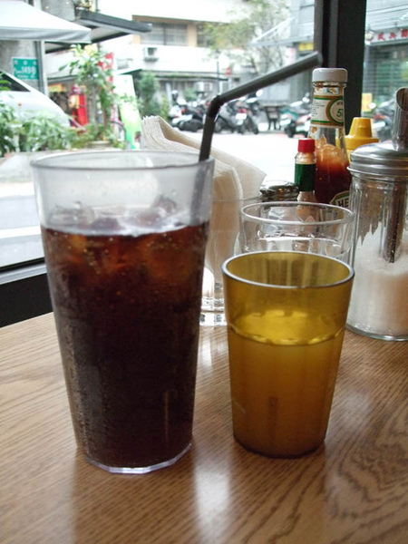 Coke and orange juice