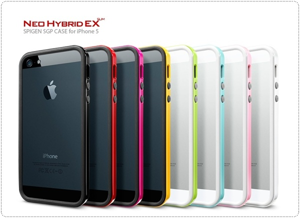 iPhone 5 Neo Hybrid EX Slim snow vivid black