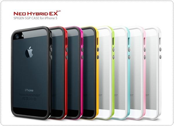 iPhone 5 Neo Hybrid EX Slim snow vivid black