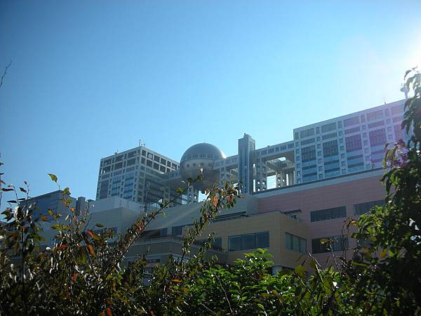 從台場海濱公園看富士電視台