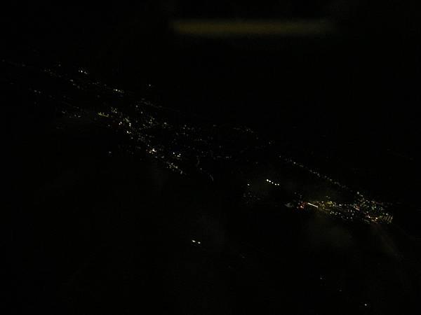 機上日本夜景