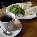 火腿蛋和咖啡