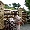 漂亮的真正的日本和服小姐