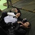 《寶島雙雄》為求動作戲安全,多次演練,左起Shoko、房祖名、Jessica C.