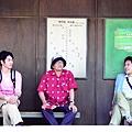 森田芳光執導《幸福特快車》時的工作模樣,左起瑛太、森田芳光、松山研一