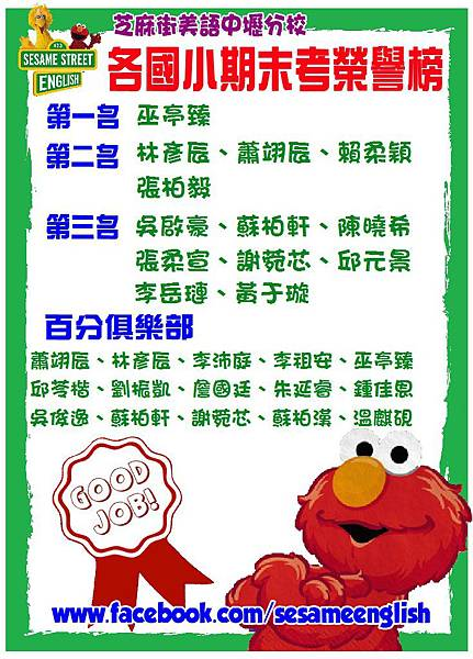 2012.01期末考榜單
