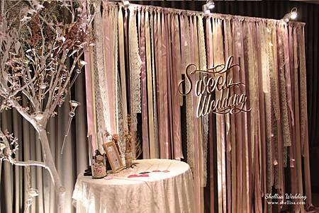 婚禮佈置-緞帶背景