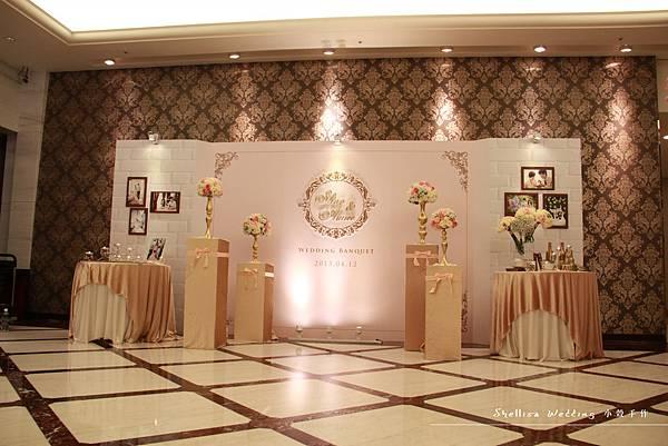 華漾大飯店 背板 婚禮佈置