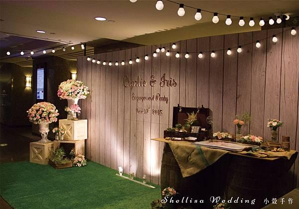 鄉村風婚禮佈置 木頭背板