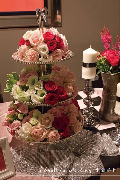 粉黑色婚禮佈置