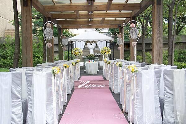 黃綠色夏天婚禮