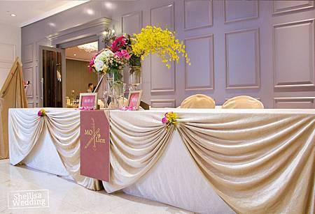 日本風婚禮佈置接待桌
