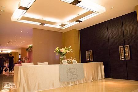 國賓飯店 婚禮佈置接待桌佈置