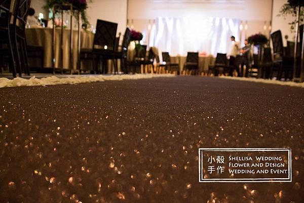 萬豪酒店 金蔥紅毯佈置
