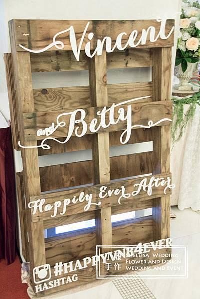 棧板婚禮背板 木頭婚禮佈置