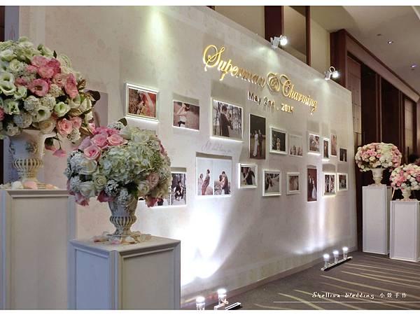 照片背板 晶華酒店婚禮佈置