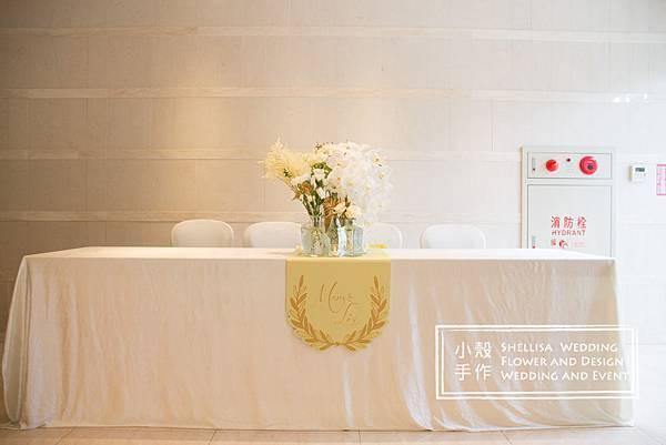 婚禮佈置 故宮精華 收禮桌