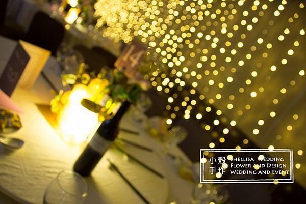 酒瓶燈光婚禮佈置