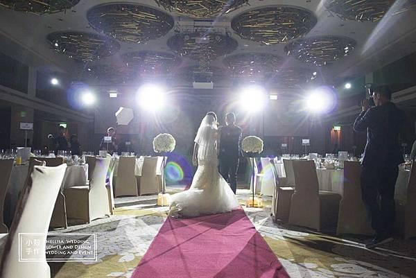 白金主題婚禮佈置